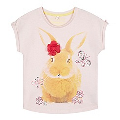 bluezoo - Girls' rabbit photo t-shirt