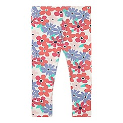 bluezoo - Girls' cream floral leggings