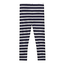 bluezoo - Girls' navy striped leggings