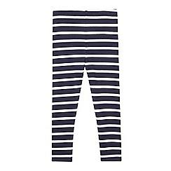 bluezoo - Girls' navy striped leggings