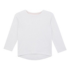 bluezoo - Girls' white long sleeved t-shirt