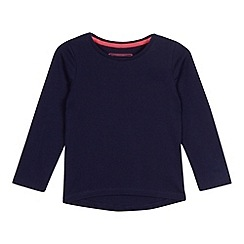 bluezoo - Girls' navy long sleeved t-shirt