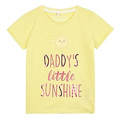 bluezoo - Girls' yellow 'Daddy's little sunshine' t-shirt
