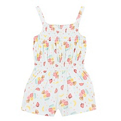 bluezoo - Girls' light green ice cream print playsuit