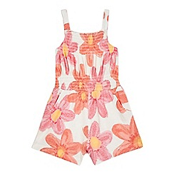 bluezoo - Girls' red floral print playsuit