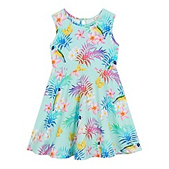 bluezoo - Girls' multi-coloured tropical print skater dress