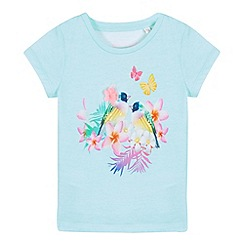 bluezoo - Girls' light green sequin bird print t-shirt