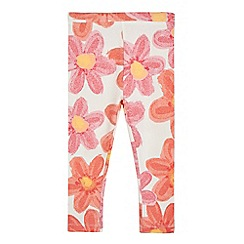 bluezoo - Girls' red floral print leggings