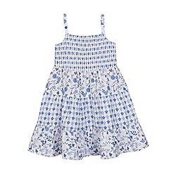 bluezoo - Girls' blue floral print dress