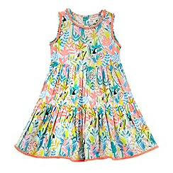 bluezoo - Girls' multi-coloured tropical print tiered dress
