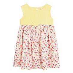bluezoo - Girls' yellow floral print mock dress