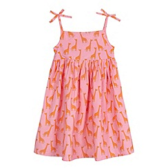 bluezoo - Girls' pink giraffe print dress