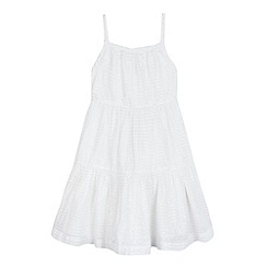 bluezoo - Girls' white tiered dress