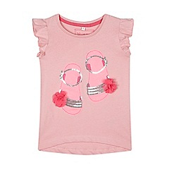 bluezoo - Girls' pink sandal applique top