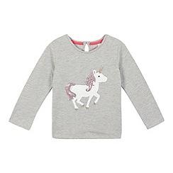 bluezoo - Girls' grey sequin unicorn top