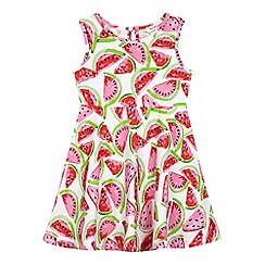 bluezoo - Girls' white watermelon print jersey dress