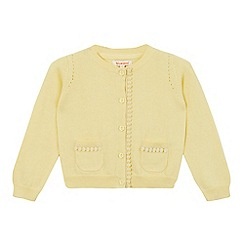 bluezoo - Girls' light yellow cardigan