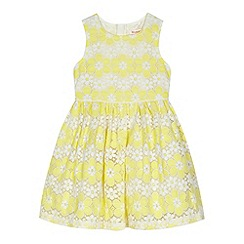 bluezoo - Girls' yellow floral lace dress