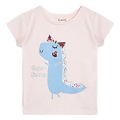 bluezoo - Girls' light pink 'Super-Saurus' embellished t-shirt