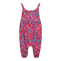 bluezoo - Girls' pink butterfly print romper suit