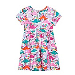 bluezoo - Girls' multi-coloured dinosaur print dress