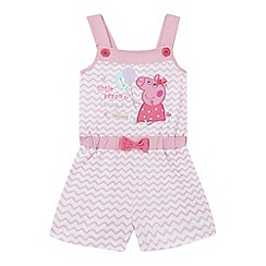 Peppa Pig - Girls' pink 'Peppa Pig' applique playsuit