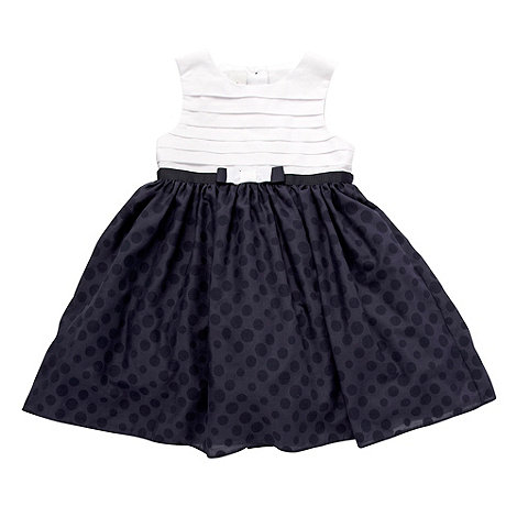 J by Jasper Conran - Designer girl+s navy pleated party dress