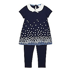 J by Jasper Conran - Girls' navy top and leggings set