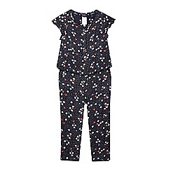 J by Jasper Conran - Girls' blue ditsy jumpsuit