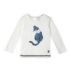 J by Jasper Conran - Girls' white sequinned cat top