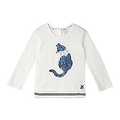 J by Jasper Conran - Girls' white sequinned cat top