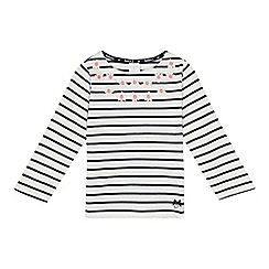 J by Jasper Conran - Girls' striped flower t-shirt
