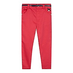 J by Jasper Conran - Girls' pink stretch jeans with bow belt