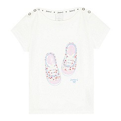 J by Jasper Conran - Girls' white sequin shoe t-shirt