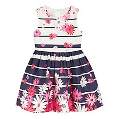 J by Jasper Conran - Girls' navy striped floral dress