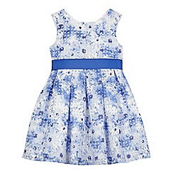 J by Jasper Conran - Girls' blue floral burnout dress