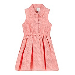 J by Jasper Conran - Girls' pink burnout flower shirt dress