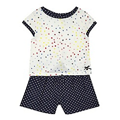 J by Jasper Conran - Girls' cream polka dot top and navy culottes set