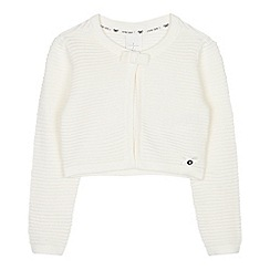 J by Jasper Conran - Girls' cream ribbed crop cardigan