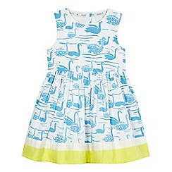J by Jasper Conran - Girls' white swan print dress