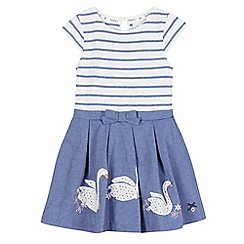 J by Jasper Conran - Girls' blue swan applique mock skirt