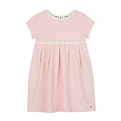 J by Jasper Conran - Girls' pink textured spot dress