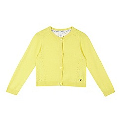 J by Jasper Conran - Girls' yellow cardigan