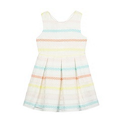 J by Jasper Conran - Girls' multi-coloured burnout stripe spot print dress