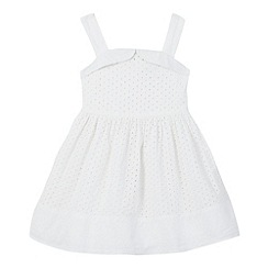 J by Jasper Conran - Girls' white pointelle dress