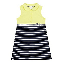 J by Jasper Conran - Girls' yellow and navy striped print dress