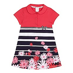 J by Jasper Conran - Girls' pink flower jersey dress