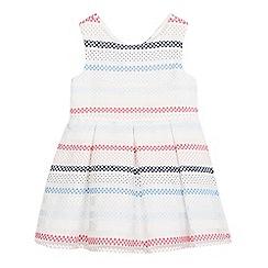 J by Jasper Conran - Girls' white polka dot striped dress