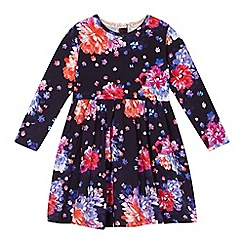 RJR.John Rocha - Girls' navy digital floral print dress