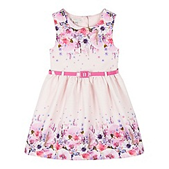 RJR.John Rocha - Girls' pink textured floral dress with belt